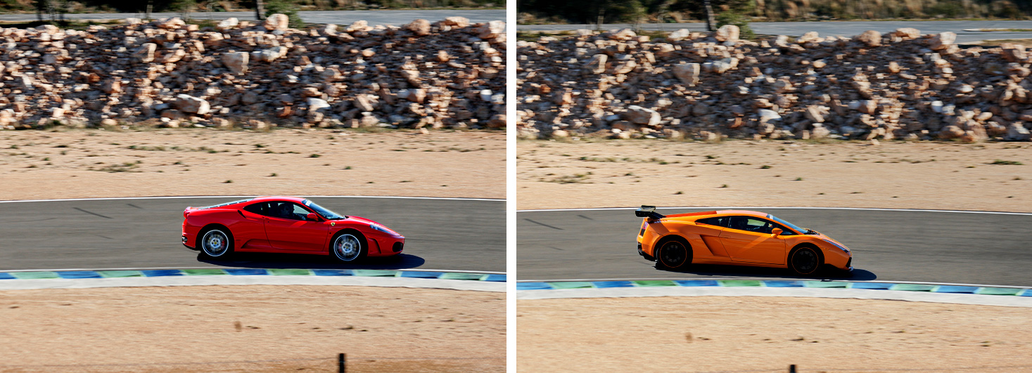 Conducir un Ferrari F430 F1 y un Lamborghini Gallardo en el Circuit Calafat